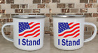 Camping Cup Camper Mug Stainless Steel Coffee I Stand for the USA Flag Political