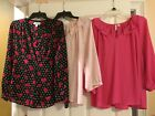Lot of 3 Large Elle Blouses Preowned Womens Shirts