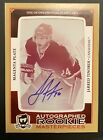 2013 2014 THE CUP Jarred Tinordi AUTO AUTOGRAPH PRINTING PLATE ROOKIE RC 1 1