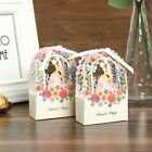50Pcs Hollow Love Heart Favor Ribbon Gift Box Candy Shower Boxes Wedding Party