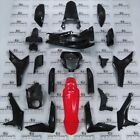 HONDA CRF CRF250 CRF250L -F FULL FAIRING PANEL SET + DECALS BLACK RED 2012 -2017