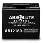 AB12180 12V 18AH Replacement for Sealake FM12170E Sealed Lead Acid AGM Battery