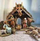 Fontanini Heirloom Nativity 54523 5figures with stable in box 11 Total Pieces