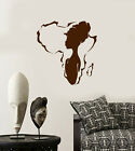 Vinyl Wall Decal African Girl Native Beauty Africa Continent Stickers 3912ig