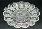 Deviled Egg - Vintage Indiana Glass Clear Hobnail Serving Dish / Tray / Plate