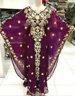 Dubai Wine Moroccan Kaftan Georgette Dress Jilbab Arabian clothing