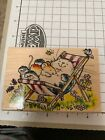PENNY BLACK rubber stamps Cat Nap Kitten Mouse Floral Bee Butterfly