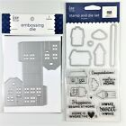 Love Nicole Lot Of 2 Clear Stamp  Embossing Die Sets Home Is Where The Heart Is