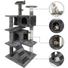 52 Cat Tree Activity Tower Pet Kitty Furniture with Scratching Posts