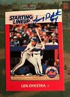 1988 STARTING LINEUP CARD OF LENNY DYKSTRA  METS AUTO Baseball Card
