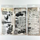 Tim Holtz Lot Of 3 Clear Stamp Sets The Journey Things Talk Flights Of Fancy