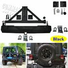 Rear Bumper + Crews +2 D ring Mounts Tire Carrier For Jeep Wrangler TJ YJ 86 06