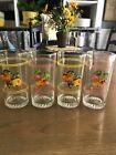 """"""" tall Juice Glasses with Fruit"""