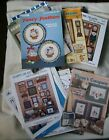Counted Cross Stitch Pattern Lot 34 Country Heart Sampler Children Angel Goose