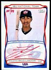 FRANCISCO LINDOR 2010 Topps USA Baseball RED AUTO 99 Rookie Cleveland Indians