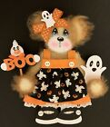 BABY Girl Ghost TEAR BEAR PAPER PIECE PREMADE SCRAPBOOK PAGES CARD