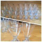 Lot Set Of 21 Anchor Hocking Boopie Glasses Balls Bubbles On Bottom Water Goblet
