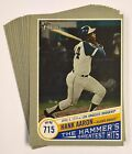 2019 Heritage High Number HANK AARON HAMMERS GREATEST HITS YOU PICK YOUR CARD