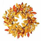 VGIA 18Inch Fall Wreath Front Door Decor Wreath Fall Decorations Autumn Leaves W