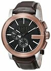 ✅ New Gucci G-Chrono Chronograph Rose Gold Brown Leather YA101202 Mens Watch!