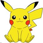 Pikachu Sitting Pokemon CUTEaf Sticker Any Size Any Colors Car Truck Jeep