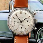 Vintage 1960s Zenith Ref A273 Cal 146HP Chronograph w Stunning Scientific Dial