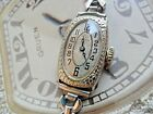 1918 Art Deco SOLID 14k White Gold Vintage Lady's Gruen 15 Jewel 4 Adj. Watch