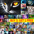 Cat 5D DIY Full Drill Diamond Painting Cross Stitch Embroidery Kit Art Decor US