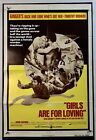 GIRLS ARE FOR LOVING Movie Poster VeryGood+ One Sheet 1973 Sexploitation 3700