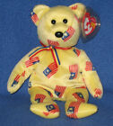 TY NEGARAKU the BEAR (BLACK NOSE) BEANIE BABY - MINT with MINT TAGS
