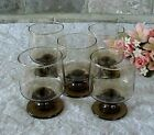 Vintage Libbey Tawny Footed Rocks Glass Juice (5) Barware