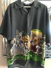 Mens Dragonfly Dogs playing snooker Shirt L