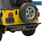 EAG Tubular Rear Bumper with Hitch Receiver Offroad Fit Jeep Wrangler YJ TJ