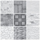 Tile Stickers Transfers Mosaic Marble Stone Effect Greys Kitchen Bathroom MS1
