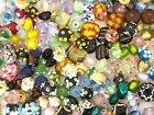 NEW 1 4 Pound Mixed Colors Assorted Lampwork Glass Beads WHOLESALE Bulk Lot