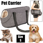 Pet Puppy Dog Cat Carrier Bag Comfort Travel Tote Sling Carry Bag Size S Gray US