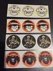 Vintage Matte Trend Scratch and Sniff Stickers Skeleton Ghost Bat Witch NO TM