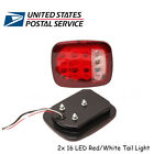 2Pcs Heavy Duty Stop Tail Turn Light Two tone For Jeep Yj Jk Cj Truck Trailer