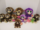 Ty Beanie Boo Monkey Lot of 11 Different Small Medium Coconut Casanova Grapes