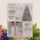 Silicone Clear Stamp Transparent Rubber Stamps DIY Scrapbook Christmas tree DTB9