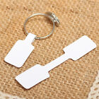 100x Blank Adhesive Sticker Ring Necklace Jewelry Display Price Label Tags Bb9