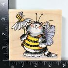 Penny Black Bee Costume Wood Mounted Rubber Stamp Cat Flower Animal