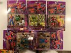 Marvel Spectacular Spider man Techno Wars 5 Figures Lot of 5 Toy Biz NOC1996