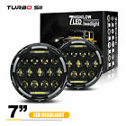 DOT 75W 7 in LED Headlights Round DRL Hi Low Projector For Jeep Wrangler JK LXL