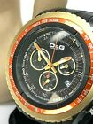 Dolce Gabbana D & G Men's Watch Chronograph Black Dial Rubber Band Quartz DW0369
