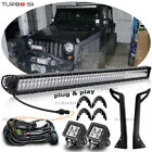 50IN 288W LED LIGHT BAR Fit 87 95 Jeep Wrangler YJ Mount Bracket