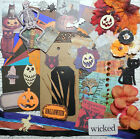 Deluxe Halloween Card Making Kit Paper  Embellishments to Make 6 Cards + 2 Tags