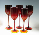 Josh Simpson Art Glass Ruby colored Tall Wine Stem 5 Available