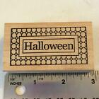 HALLOWEEN WORD FRAME by OUTLINES Rubber Stamp 138