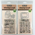 Hero Arts Stamp  Cut Lot Of 2 Clear Stamp Die Sets Everything Smiles Eat Cake